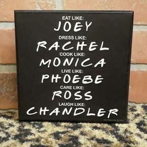 FRIENDS Sitcom RARE Warner Bros Sign Joey Rachel